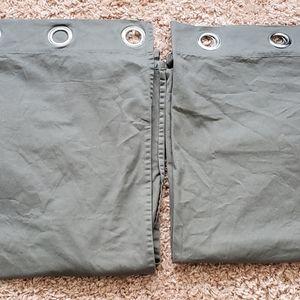 IKEA dark grey curtain panels